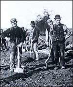 Rail workers in the 1840s