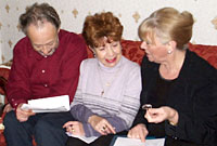 Anna Brown, David Harris and Glenys Harris from Treorchy in the south Wales valleys.