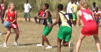 UK and Ghanian schools play netball
